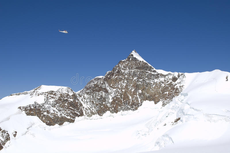 Panorama que sube en el glaciar fotos de archivo libres de regalías
