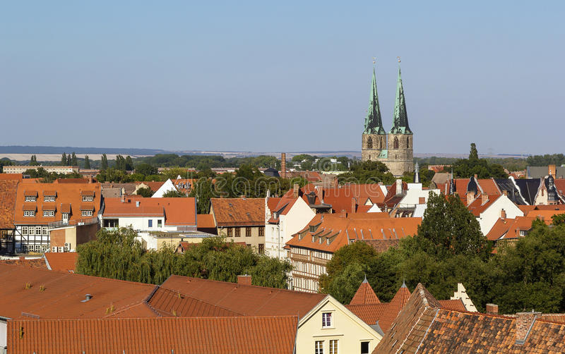 Panorama Of Quedlinburg, Germany Royalty Free Stock Images