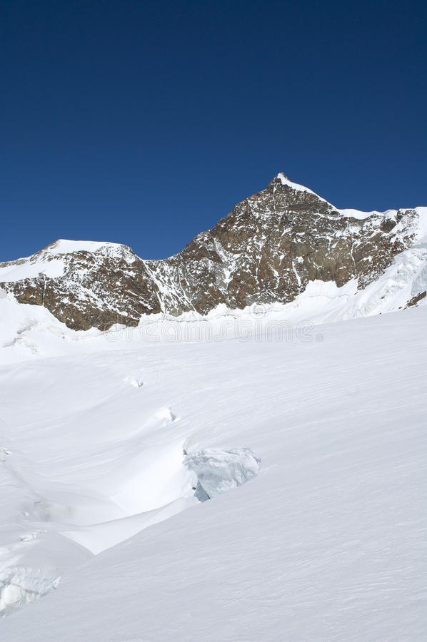 Panorama rampicante sul ghiacciaio fotografia stock libera da diritti