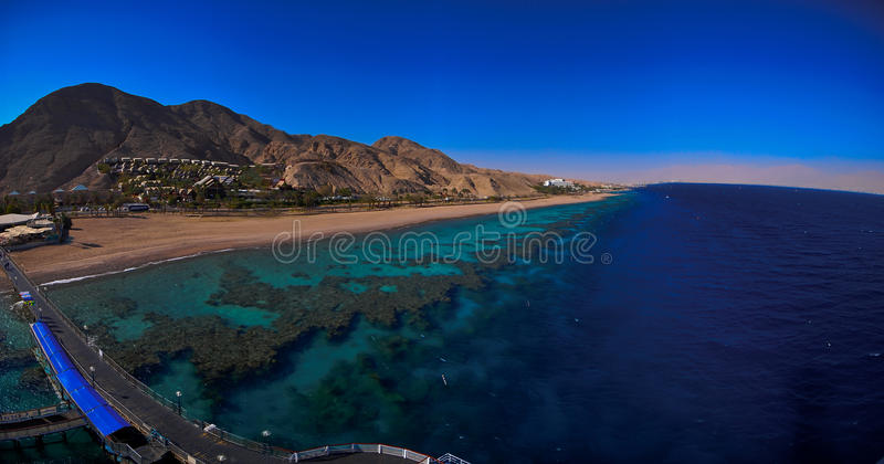 Download Panorama of the red sea stock photo. Image of reef, blue - 19059514