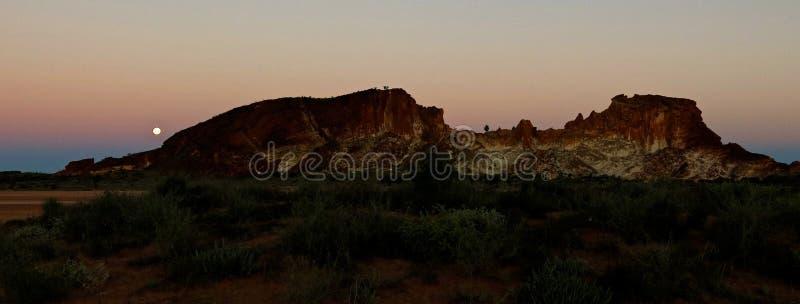 Panorama - Regenboogvallei, Zuidelijk Noordelijk Grondgebied, Australië stock fotografie