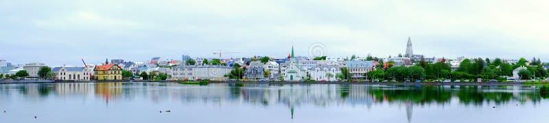 Panorama of Reykjavik royalty free stock photos