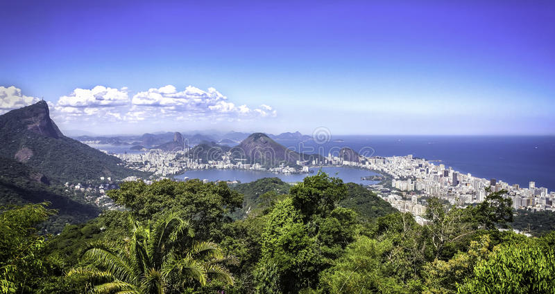 Panorama Rio De Janeiro, Brazylia obraz royalty free