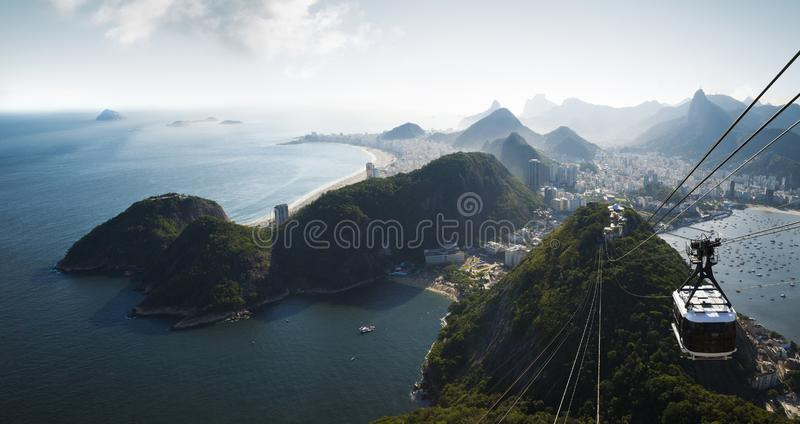 Panorama of Rio de Janeiro from Sugarloaf mountain royalty free stock image