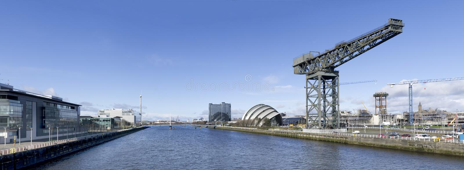 Download Panorama Of River Clyde In Glasgow Stock Image - Image: 23692469