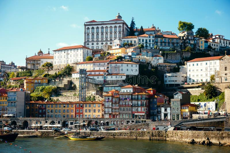 Panorama of river Douro and the old town of Porto, the second largest city in Portugal after Porto stock photos