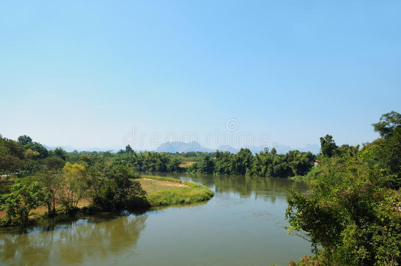 Download Panorama Of The River Kwai In Thailand Stock Image - Image: 26698379