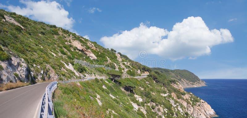 Panorama Road, Insel Elba, Italien lizenzfreie stockfotografie