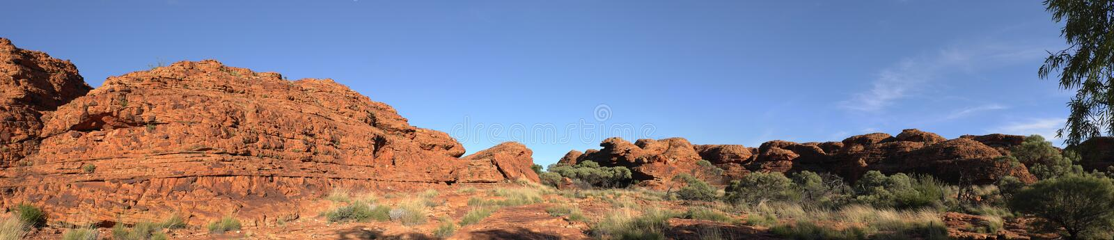 Panorama of the rock in Kings Canyon. Northen Territory, Australia royalty free stock photos