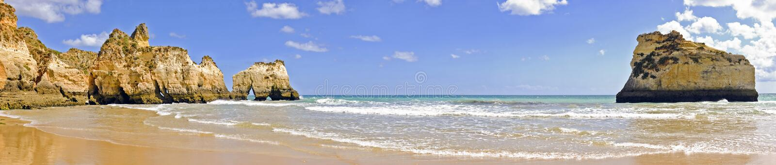 Download Panorama From Rocks And Ocean In Alvor Portugal Stock Photos - Image: 31165393