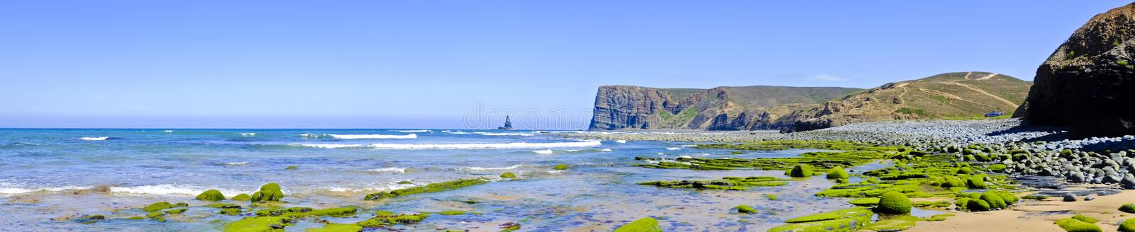 Download Panorama From Rocks And Ocean In Portugal Stock Image - Image: 32598991