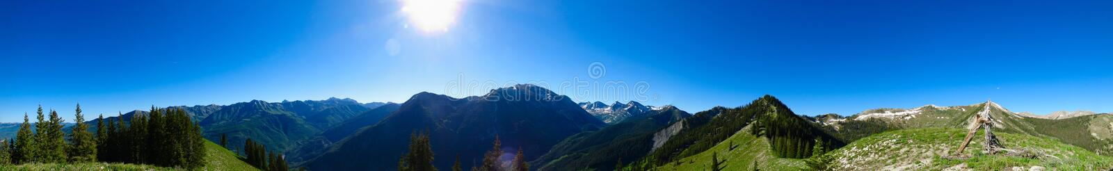 Panorama of Rocky Mountains royalty free stock image
