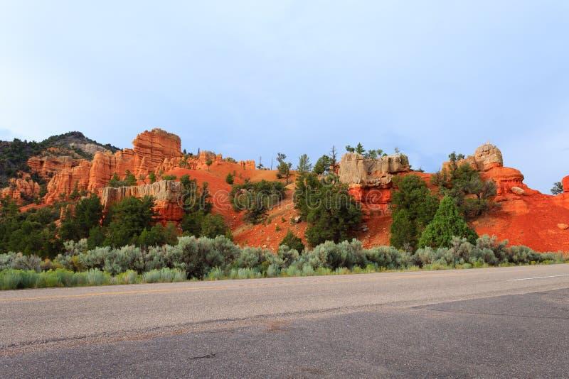 Panorama rojo del barranco, Utah, los E.E.U.U. foto de archivo libre de regalías