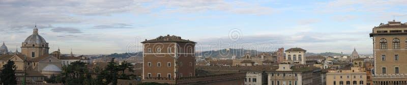 Panorama of Rome stock image
