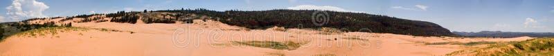 Panorama rosado coralino 1 del parque de las arenas fotografía de archivo libre de regalías