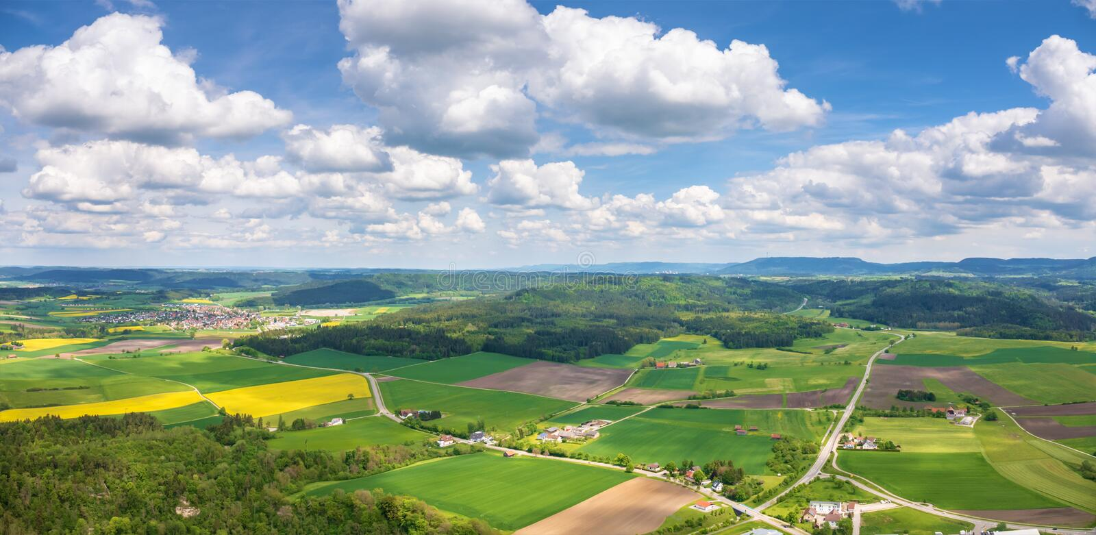 panorama in Rottweil Duitsland stock foto's