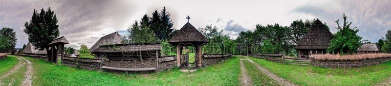 Panorama de village illustration de vecteur