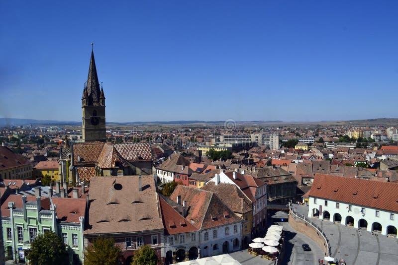 Panorama Roumanie de Sibiu image stock