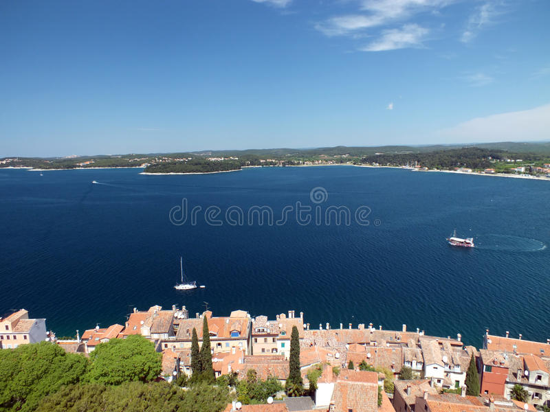 Download Panorama Rovinj stock photo. Image of cathedral, istria - 19563926
