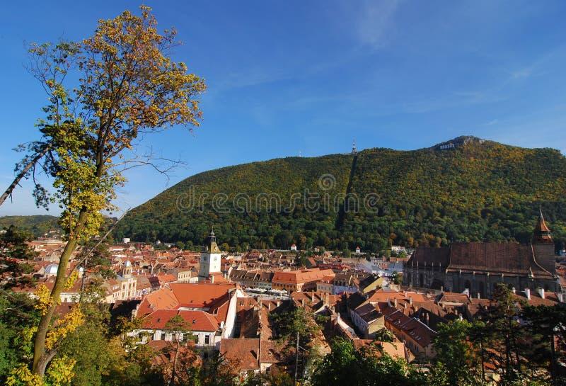 Panorama/Rumania de Brasov imagen de archivo