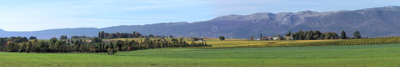 Panorama rural imagenes de archivo
