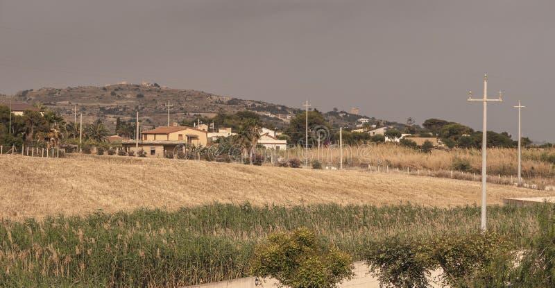 Panorama rural sicilien images libres de droits