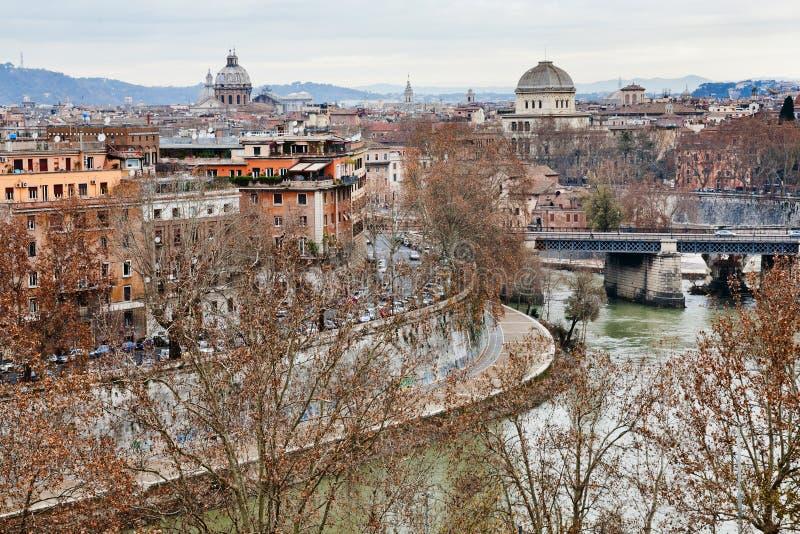 Panorama Rzym od Aventine wzgórza fotografia stock