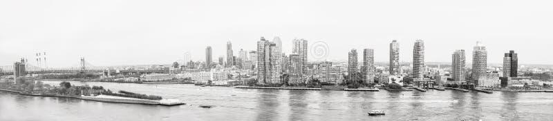 Panorama's van de Rivier van het Oosten van de Bouw van de Verenigde Naties stock afbeelding
