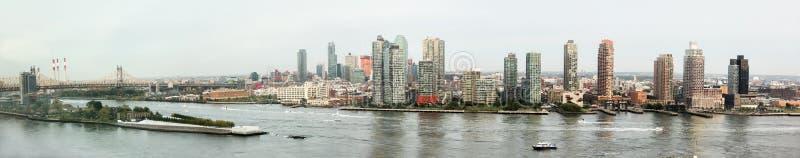 Panorama's van de Rivier van het Oosten van de Bouw van de Verenigde Naties stock afbeeldingen