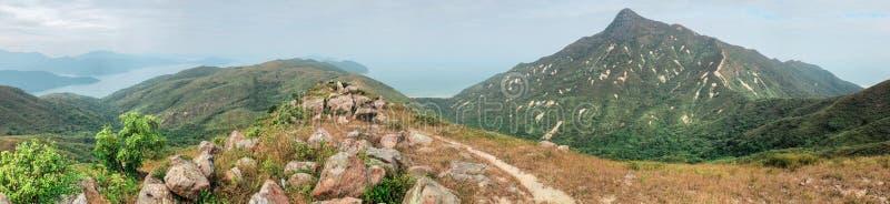 Panorama of Sai Kung, Hong Kong royalty free stock image