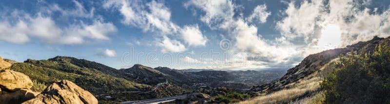 Panorama of San Fernando Valley Los Angeles CA stock photo