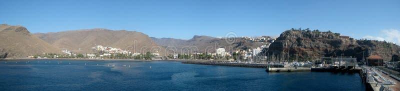 Panorama of San Jose (La Gomera island) royalty free stock photography