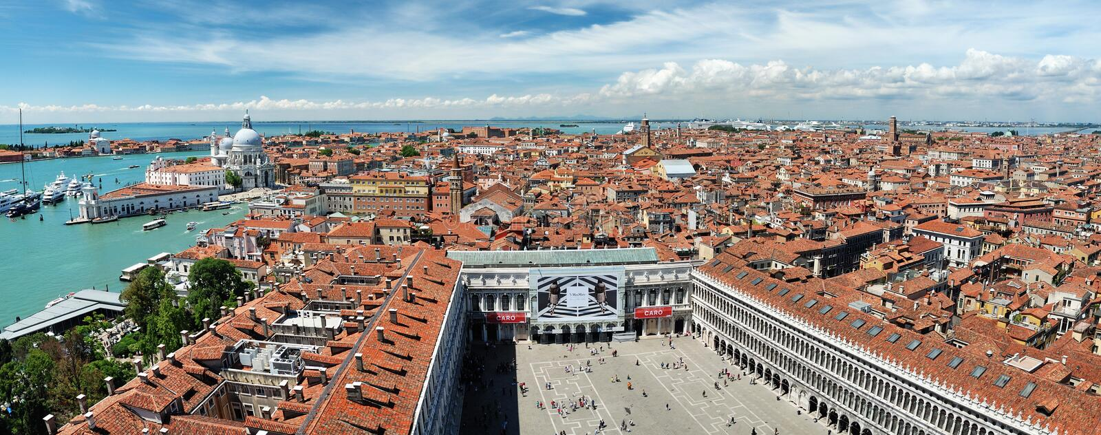 Panorama of the San Marco Square royalty free stock photos
