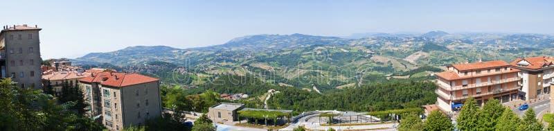 Panorama of San Marino royalty free stock image