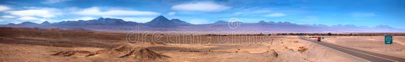 Panorama of San Pedro de Atacama, Chile royalty free stock images