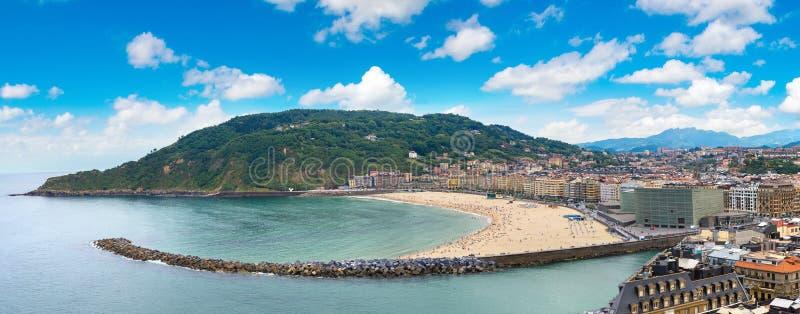 panorama- San Sebastian sikt royaltyfri foto