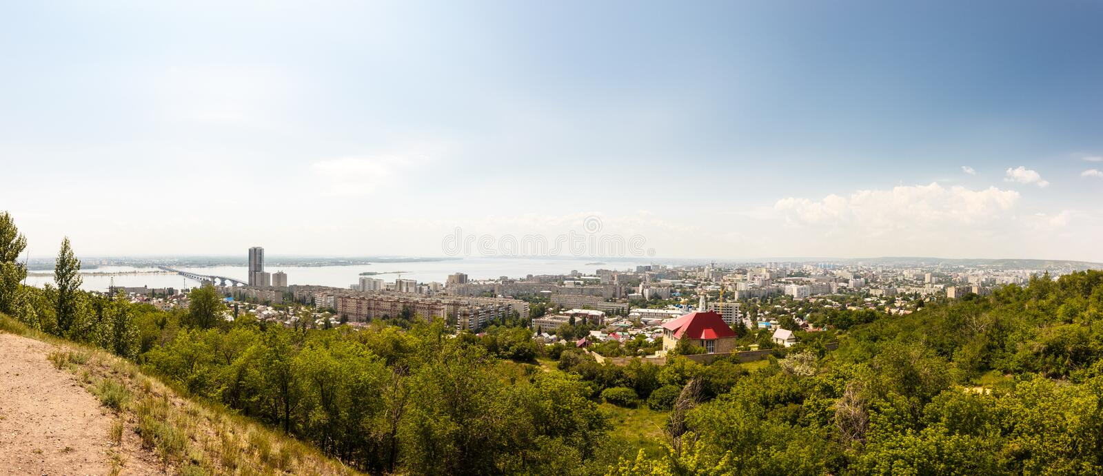 Panorama Saratov City stock photos