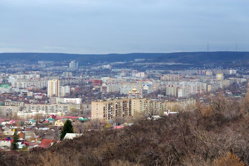 panorama- saratov för höststad sikt Ryssland royaltyfria foton