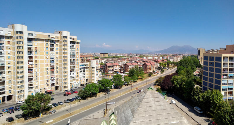 Panorama of Scampia - Naples - Italy royalty free stock photography