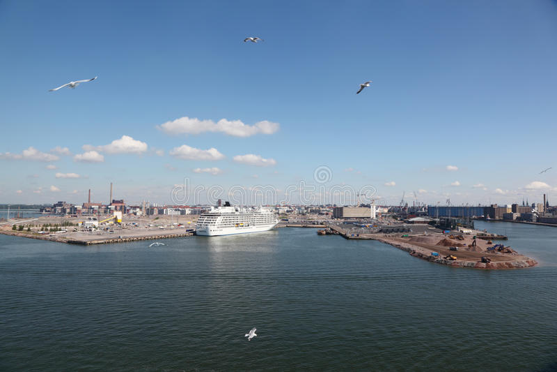Download Panorama of sea port stock photo. Image of nautical, city - 26281726