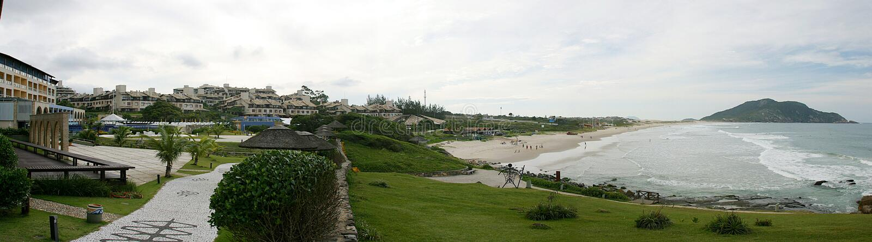 Panorama- seascape av florianopolis, Santa Catarina arkivfoto