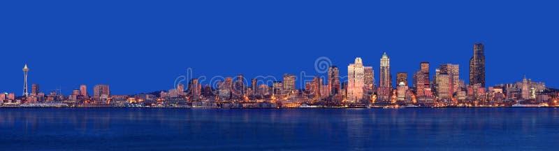 panorama Seattle fotografia stock