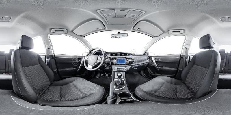Panorama sferico 360 dell'automobile immagini stock