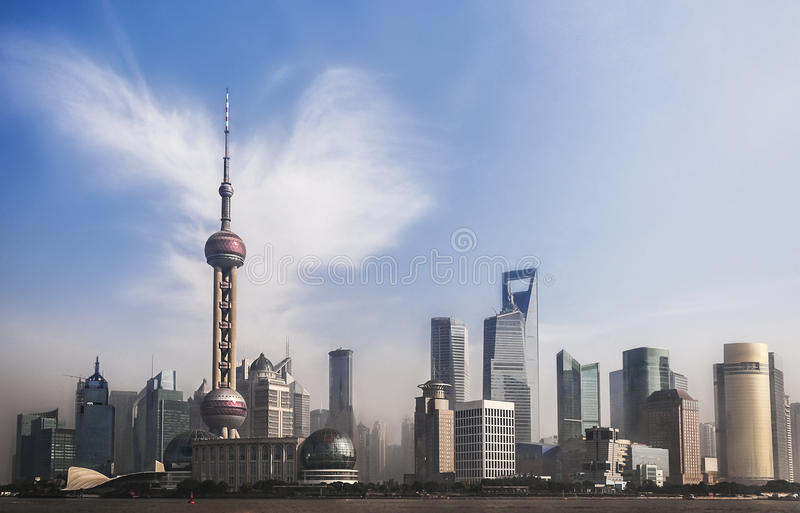 Download Panorama Of Shanghai, China Stock Image - Image of exhibition, center: 26996233