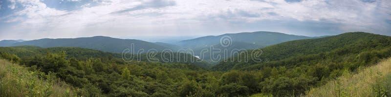 Panorama- Shenandoah nationalpark arkivbild