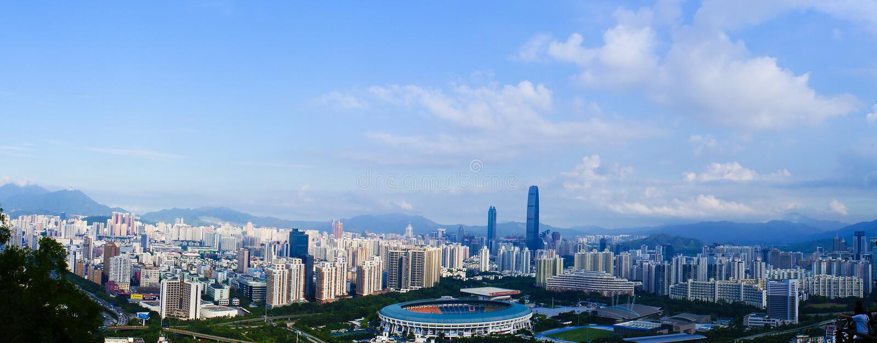 Panorama Shenzhen zdjęcia royalty free