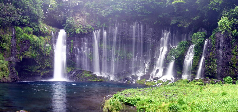 panorama shiraito obraz royalty free