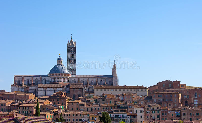 Download Panorama of Siena stock image. Image of medieval, church - 28831989