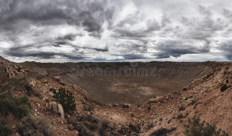 Panorama- sikt av Meteorkrater royaltyfria foton