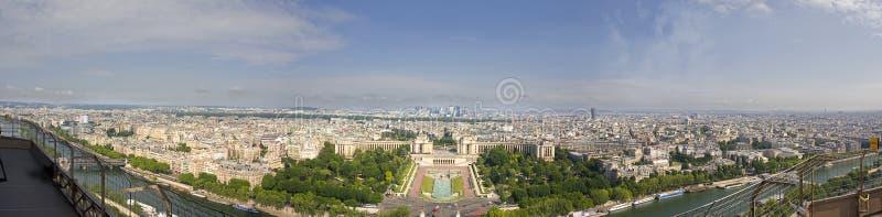 Panorama- sikt av Paris från det Eiffel tornet arkivfoton